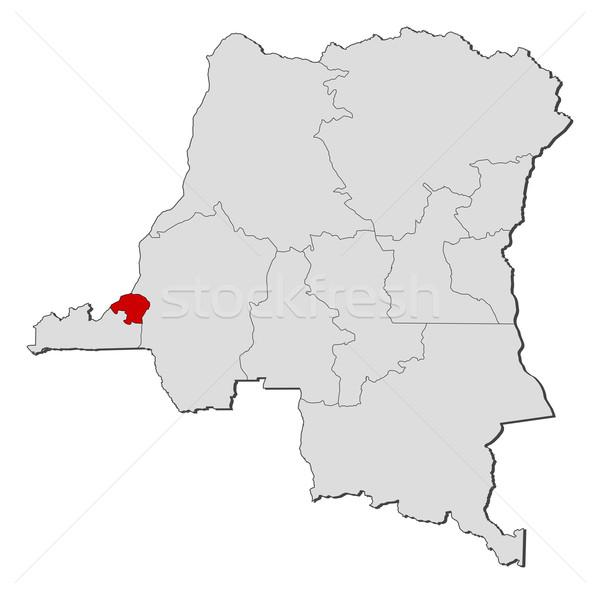Térkép demokratikus köztársaság Kongó politikai néhány Stock fotó © Schwabenblitz