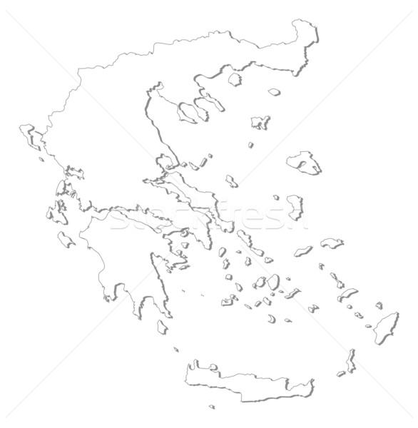 Map of Greece Stock photo © Schwabenblitz