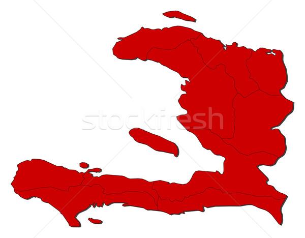 Carte Haïti politique plusieurs résumé monde Photo stock © Schwabenblitz
