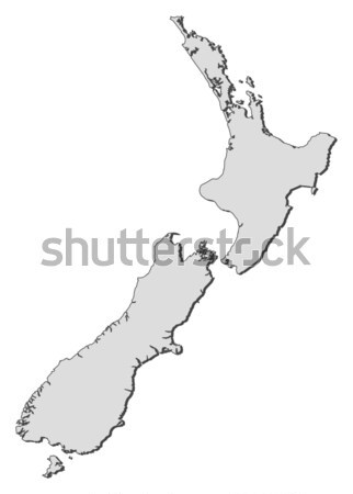 Stock photo: Map of New Zealand