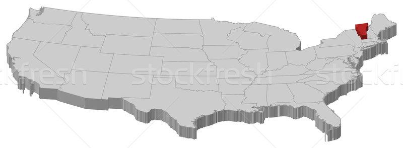 地図 米国 バーモント州 政治的 いくつかの 抽象的な ストックフォト © Schwabenblitz