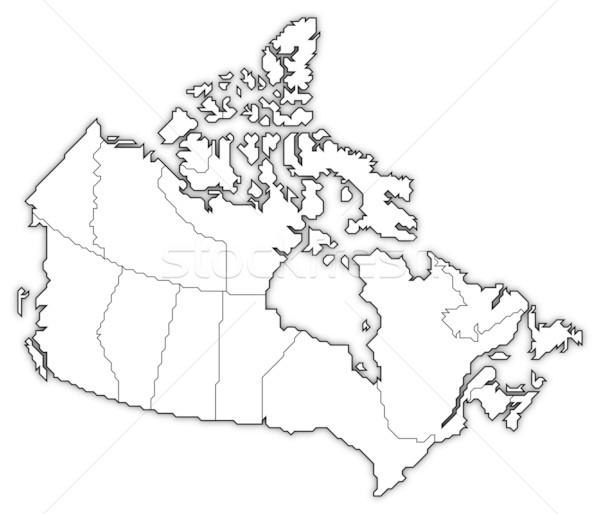 Map of Canada Stock photo © Schwabenblitz