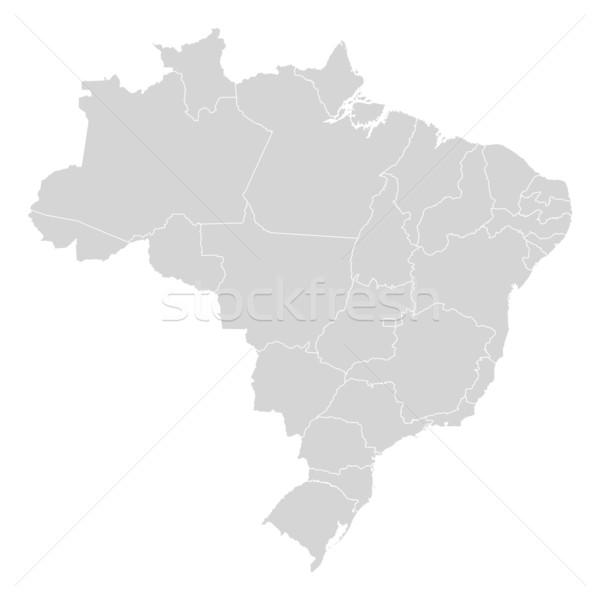 Harita Brezilya siyasi birkaç soyut toprak Stok fotoğraf © Schwabenblitz
