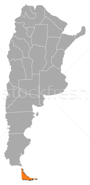 Map of Argentina, Tierra del Fuego highlighted Stock photo © Schwabenblitz
