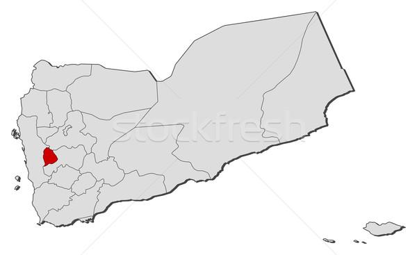 Mapa Iémen político vários abstrato fundo Foto stock © Schwabenblitz