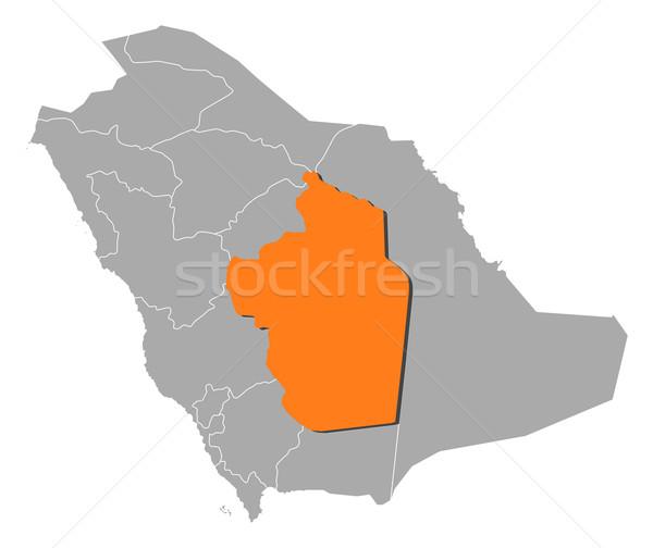 地図 サウジアラビア リヤド 政治的 いくつかの 抽象的な ストックフォト © Schwabenblitz