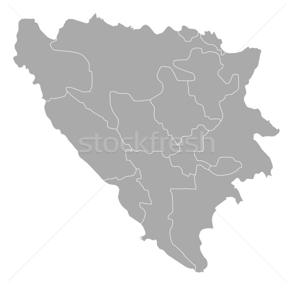 Mapa Bosnia Herzegovina político resumen fondo Foto stock © Schwabenblitz