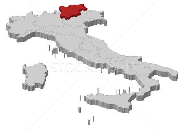 Map of Italy, Trentino-Alto Adige/S Stock photo © Schwabenblitz