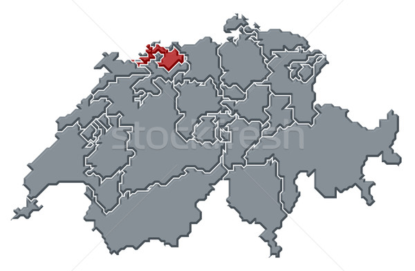 Foto stock: Mapa · político · vários · abstrato · fundo · comunicação