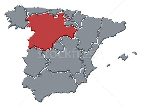 Harita İspanya siyasi birkaç bölgeler soyut Stok fotoğraf © Schwabenblitz