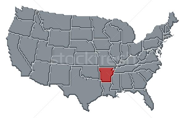 Mapa Estados Unidos Arkansas político resumen Foto stock © Schwabenblitz
