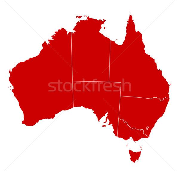 Mapa Austrália preto abstrato vermelho comunicação Foto stock © Schwabenblitz