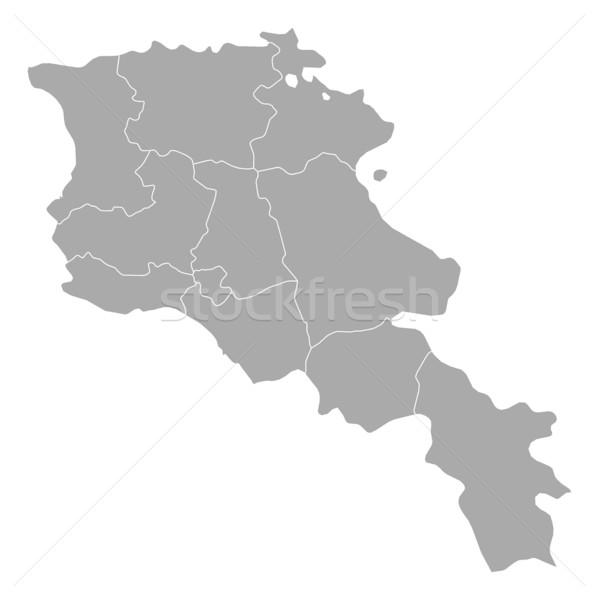 Mapa Armênia escuro abstrato fundo comunicação Foto stock © Schwabenblitz