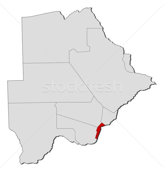 Stock photo: Map - Botswana, South-East