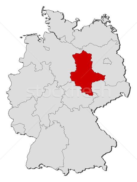 Map of Germany, Saxony-Anhalt highlighted Stock photo © Schwabenblitz