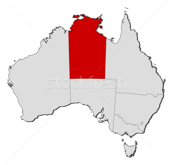 Map of Australia, Northern Treeitory highlighted Stock photo © Schwabenblitz
