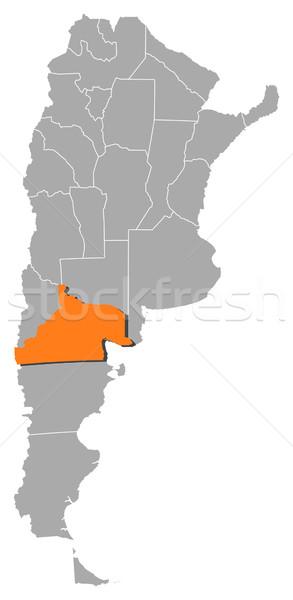 Stock fotó: Térkép · Argentína · politikai · néhány · földgömb · absztrakt