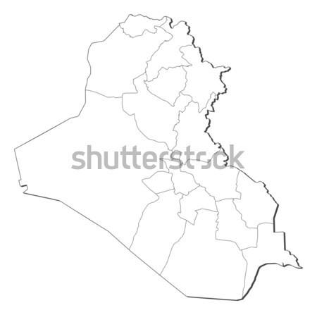 Foto stock: Mapa · Iraque · político · vários · abstrato · terra