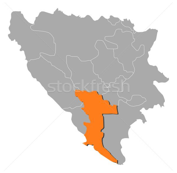 Mapa Bósnia-Herzegovina político vários globo abstrato Foto stock © Schwabenblitz