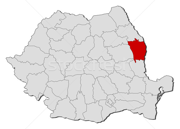 Map of Romania, Vaslui highlighted Stock photo © Schwabenblitz