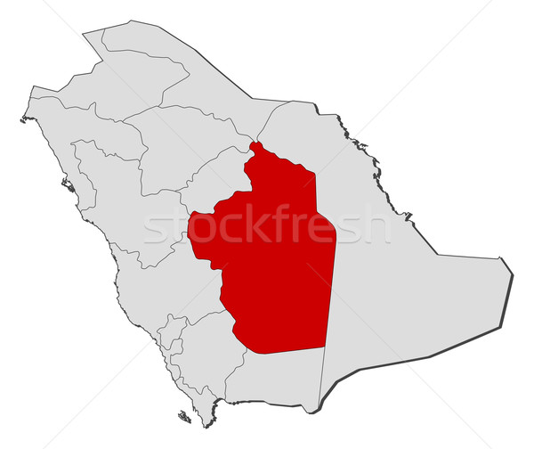 Map of Saudi Arabia, Riyadh highlighted Stock photo © Schwabenblitz