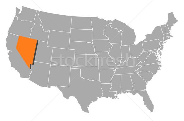Harita Amerika Birleşik Devletleri Nevada siyasi birkaç soyut Stok fotoğraf © Schwabenblitz