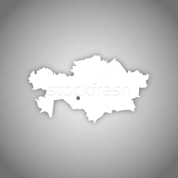Karte Kasachstan politischen mehrere Regionen abstrakten Stock foto © Schwabenblitz