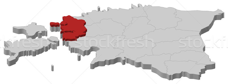 Map of Estonia, L Stock photo © Schwabenblitz