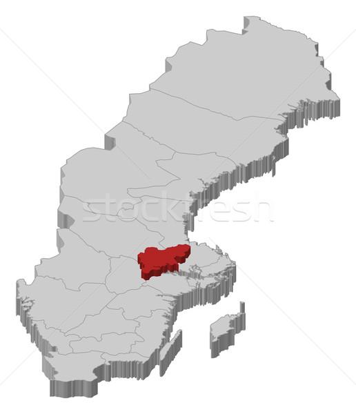 Harita İsveç siyasi birkaç soyut arka plan Stok fotoğraf © Schwabenblitz