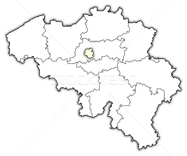 Mapa Bélgica político resumen fondo Foto stock © Schwabenblitz