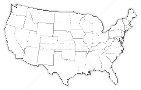 Stock fotó: Térkép · Egyesült · Államok · politikai · néhány · absztrakt · világ