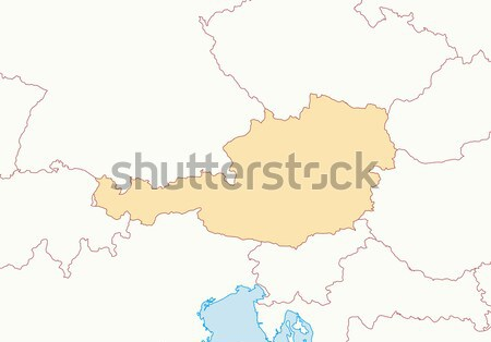 Kaart galicië Spanje regio abstract achtergrond Stockfoto © Schwabenblitz
