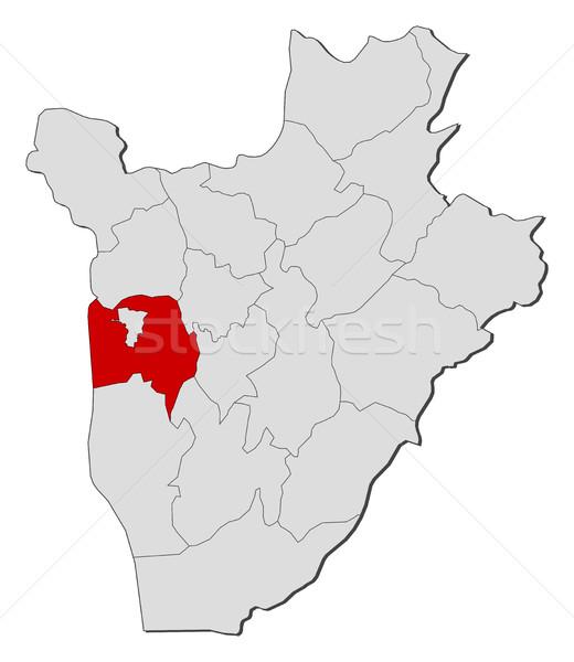 Mapa Burundi rural abstrato fundo vermelho Foto stock © Schwabenblitz