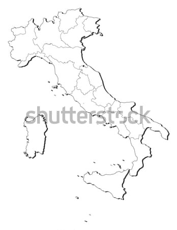 Stock photo: Map of Italy