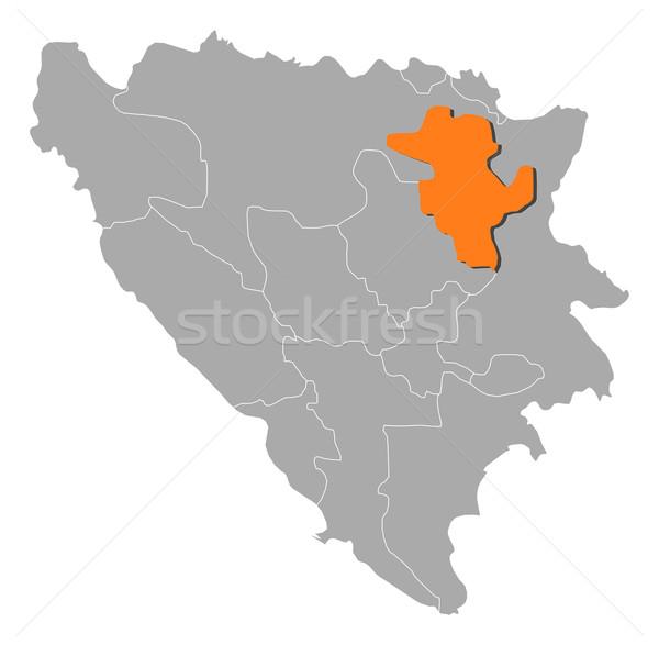 Mapa Bosnia Herzegovina político mundo resumen Foto stock © Schwabenblitz