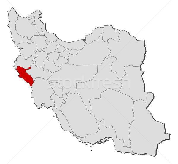 Map of Iran, Ilam highlighted Stock photo © Schwabenblitz