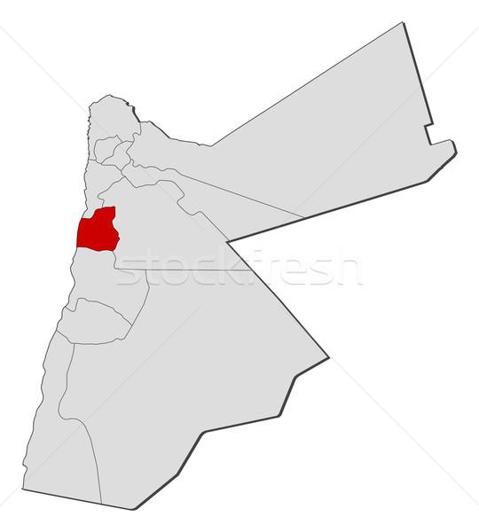 Pokaż Jordania polityczny kilka streszczenie ziemi Zdjęcia stock © Schwabenblitz