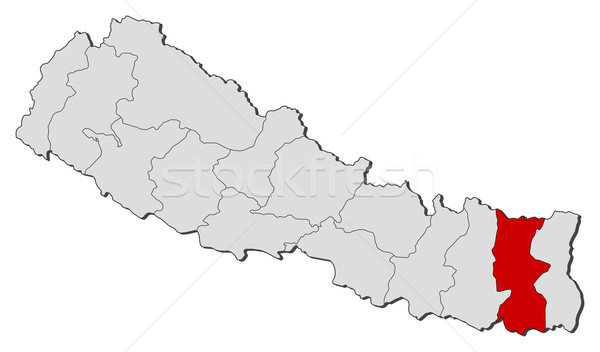 Harita Nepal siyasi birkaç dünya soyut Stok fotoğraf © Schwabenblitz