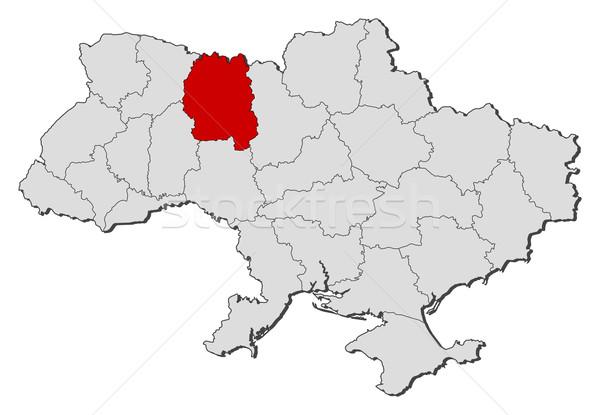 Map of Ukraine, Zhytomyr highlighted Stock photo © Schwabenblitz