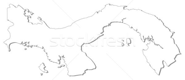 Harita Panama siyasi birkaç soyut dünya Stok fotoğraf © Schwabenblitz