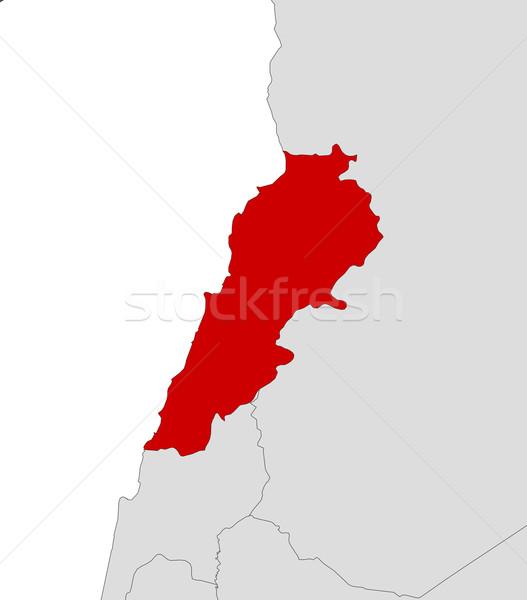 Kaart Libanon politiek verscheidene abstract wereld Stockfoto © Schwabenblitz