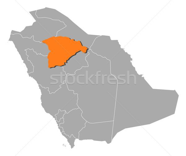 地図 サウジアラビア 政治的 いくつかの 抽象的な 背景 ストックフォト © Schwabenblitz