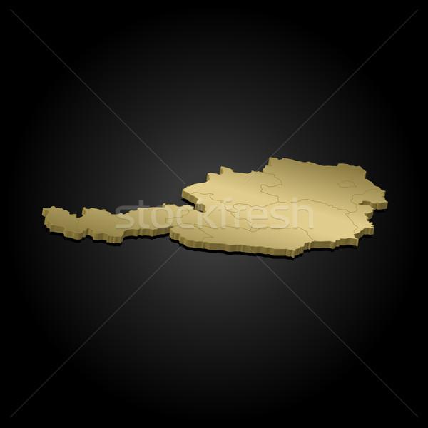 Map of Austria Stock photo © Schwabenblitz