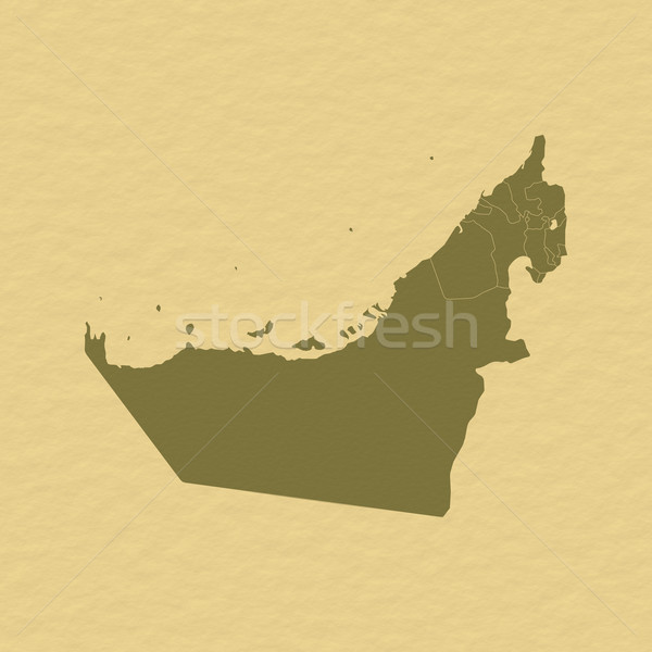 Mapa Emirados Árabes Unidos político vários abstrato mundo Foto stock © Schwabenblitz