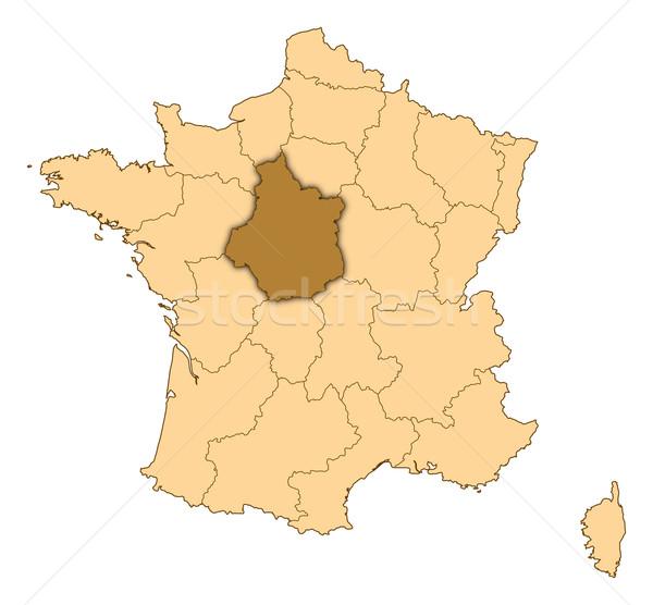 Harita Fransa merkez soyut arka plan iletişim Stok fotoğraf © Schwabenblitz