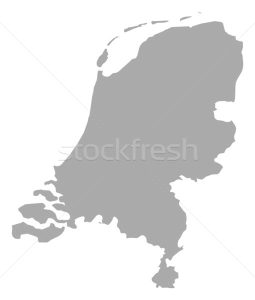 Harita Hollanda siyasi birkaç soyut arka plan Stok fotoğraf © Schwabenblitz