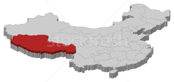 Kaart China tibet politiek verscheidene abstract Stockfoto © Schwabenblitz