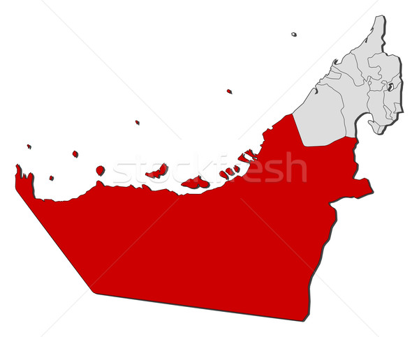 карта Объединенные Арабские Эмираты Абу-Даби политический несколько аннотация Сток-фото © Schwabenblitz