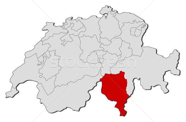 Harita siyasi birkaç dünya soyut dünya Stok fotoğraf © Schwabenblitz