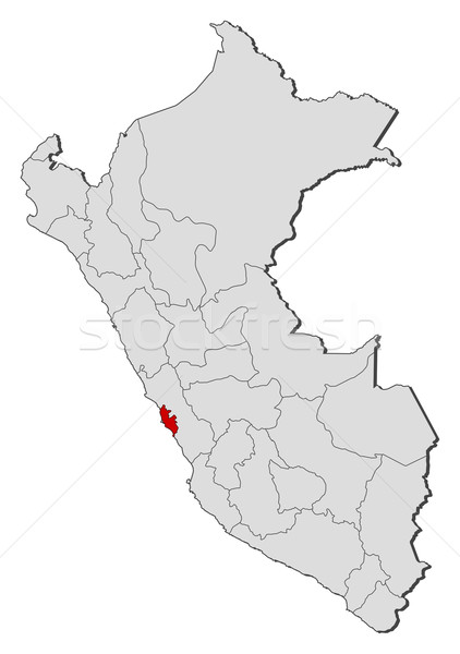 Mapa Peru lima região político vários Foto stock © Schwabenblitz